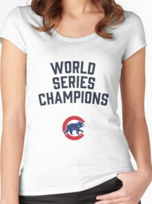 Chicago Cubs World Series Champions 2016 Women's Fitted Scoop T-Shirt