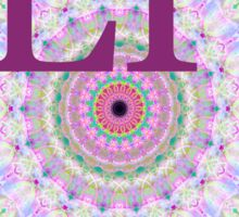 Initials LP Pink Mandala Sticker