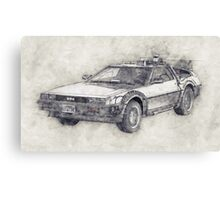 DeLorean DMC-12 Back To The Future Episode 1 Canvas Print
