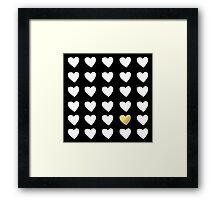 Golden Heart Framed Print