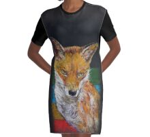 Fox Graphic T-Shirt Dress
