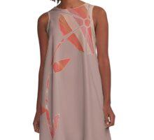 Pantone 2016 Autumn Fall Flower A-Line Dress