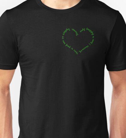 Lyme Heart No Ribbon Unisex T-Shirt