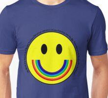 Rainbow Smiley Face Unisex T-Shirt