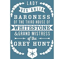 Lady Vex'ahlia - Critical Role (White) Photographic Print