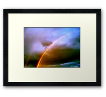 Dos Rainbows Framed Print