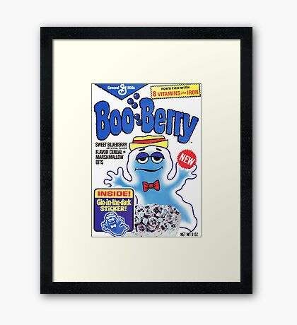 booberry fan art Framed Print