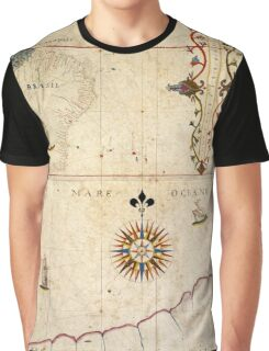 Map of Brazil 1620 Graphic T-Shirt