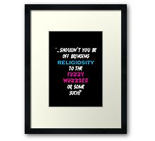 Religiosity  Framed Print