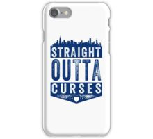Straight Outta Curses (blue version) iPhone Case/Skin
