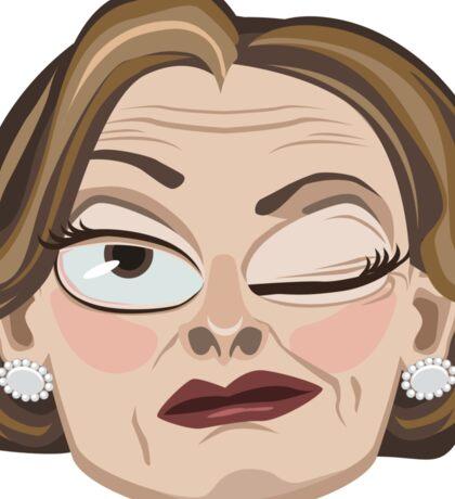Lucille Bluth Winking from Arrested Development Sticker