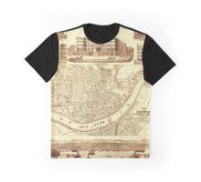 Vintage Cincinnati Map 1850 Graphic T-Shirt
