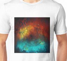 Planet Pixel Geometric Fire on Ice Unisex T-Shirt