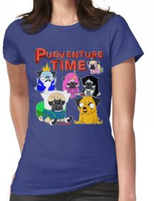 PUGVENTURE TIME Womens Fitted T-Shirt