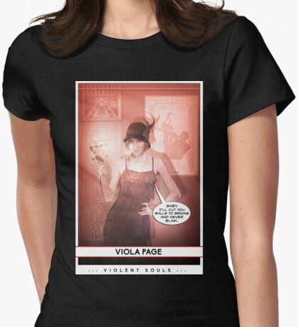 Violent Souls - Viola Page Womens Fitted T-Shirt