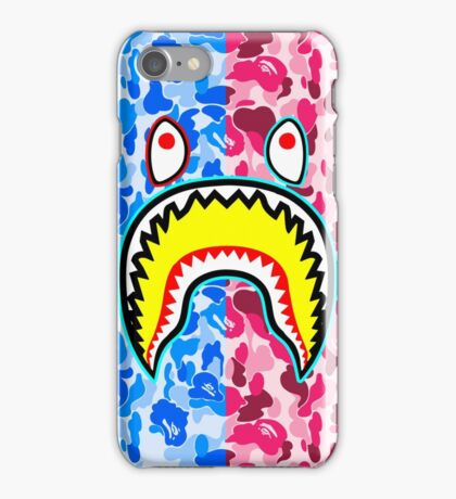 BAPE Camouflage with Shark iPhone Case/Skin