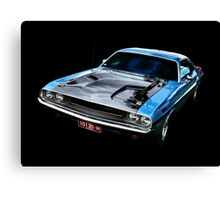 Blue Challenger Canvas Print