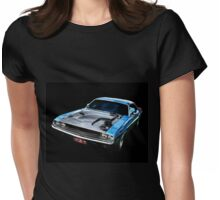 Blue Challenger Womens Fitted T-Shirt