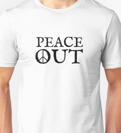 peace sign out love cool funny inspirational hippie t shirts Unisex T-Shirt