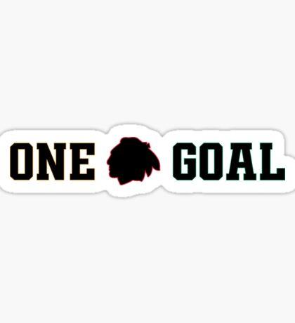One Goal - Chicago Blackhawks Sticker