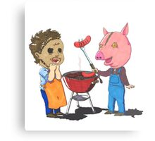 People lover's Barbecue Metal Print