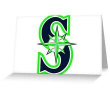 Mariners Seahawks Greeting Card