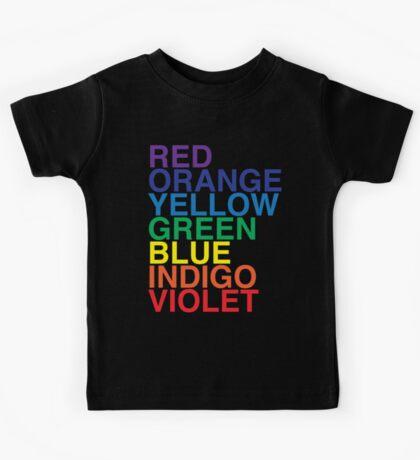 ROYGBIV Reverse by BenCapozzi Kids Tee