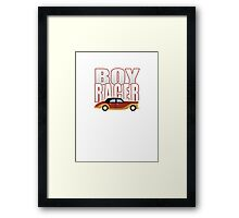 Ironic Boy Racer Framed Print