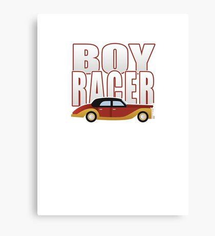 Ironic Boy Racer Canvas Print