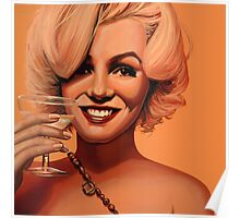 Marilyn Monroe 5 Painting Poster