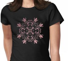 Flourish In Rose Gold Womens Fitted T-Shirt