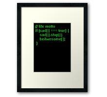 beAwesome Code Green Framed Print