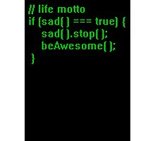 beAwesome Code Green Photographic Print