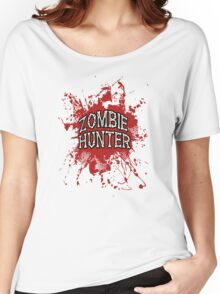 Zombie Hunter Red splatter Women's Relaxed Fit T-Shirt