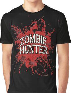 Zombie Hunter Red splatter Graphic T-Shirt