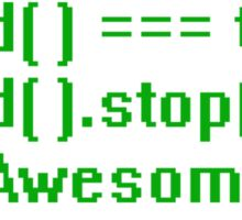 beAwesome Code Green Sticker