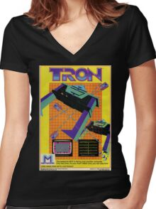 Tron Game Women's Fitted V-Neck T-Shirt