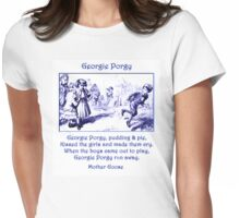 Georgie Porgy Mother Goose Illustrated Nursery Rhyme Womens Fitted T-Shirt
