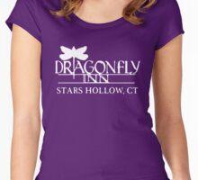 Gilmore Girls - Dragon Fly Inn White Women's Fitted Scoop T-Shirt