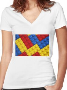 COLOUR legos Women's Fitted V-Neck T-Shirt