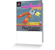 Wipeout Playstation Greeting Card