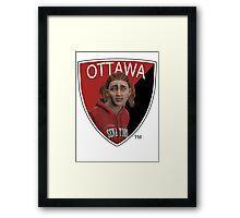 Ottawa Senators logo meme from NHL 15 - reddit Framed Print