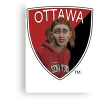Ottawa Senators logo meme from NHL 15 - reddit Canvas Print
