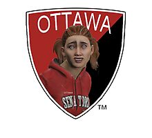 Ottawa Senators logo meme from NHL 15 - reddit Photographic Print