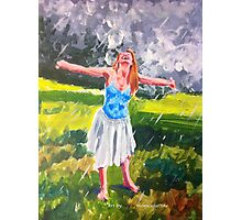 Dancing in the rain Photographic Print