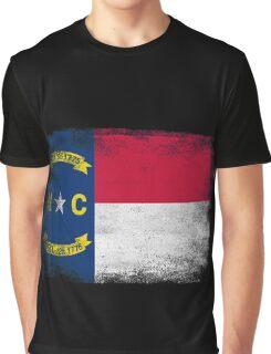 North Carolina State Flag Distressed Vintage  Graphic T-Shirt