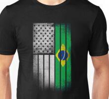 Brazilian American Flag - Half Brazilian Half American Unisex T-Shirt