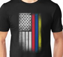 Colombian American Flag - Half Colombian Half American  Unisex T-Shirt