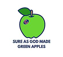 Chicago Cubs World Series Green Apples Photographic Print