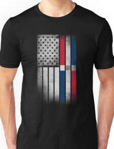 Dominican American Flag - Half Dominican Half American  Unisex T-Shirt